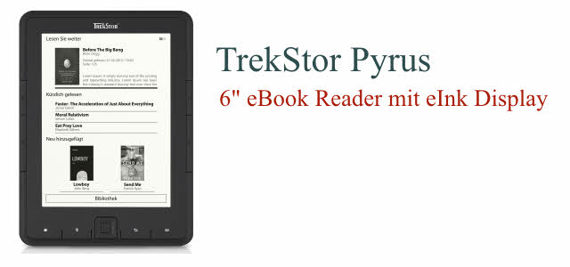 trekstor pyrus eink ebook reader. Black Bedroom Furniture Sets. Home Design Ideas
