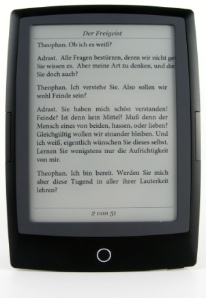 Cybook Odyssey Frontlight HD - eBook Ansicht