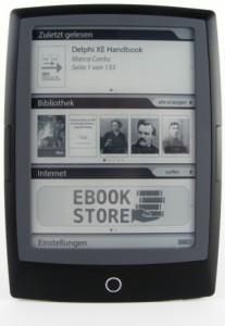 Cybook Odyssey HD Frontlight - die Startseite