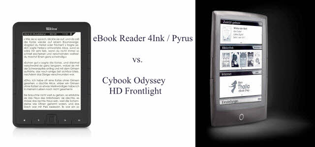 eBook Reader 4ink oder Cybook Odyssey Frontlight HD