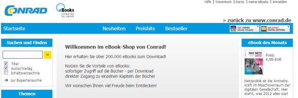 Conrad.de eBook Shop