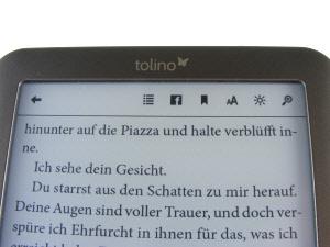 tolino shine: eBook lesen / Einstellungen
