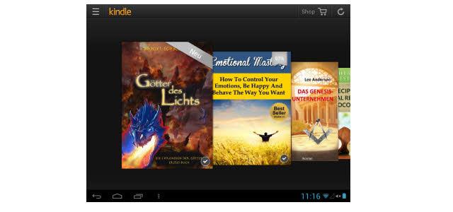 Neue Kindle Lese-App für Android mit schicker Karussell Ansicht