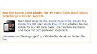 Beliebigen Kindle kaufen und Standard Kindle für 49 Euro erhalten