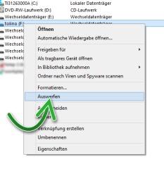 Tolino Vision über USB Kabel mit PC / Notebook verbunden