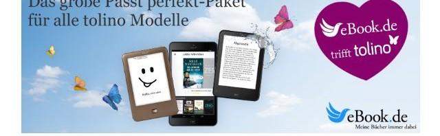 eBook.de feiert Tolino Einstieg mit Passt Perfekt Aktionsangebot