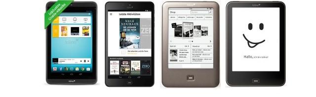tolino shine, tolino vision, tolino epos und Kindle: Anbieter und Angebote