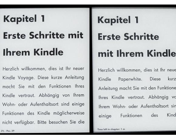 Kindle Paperwhite und Kindle Voyage - Vergleich Display