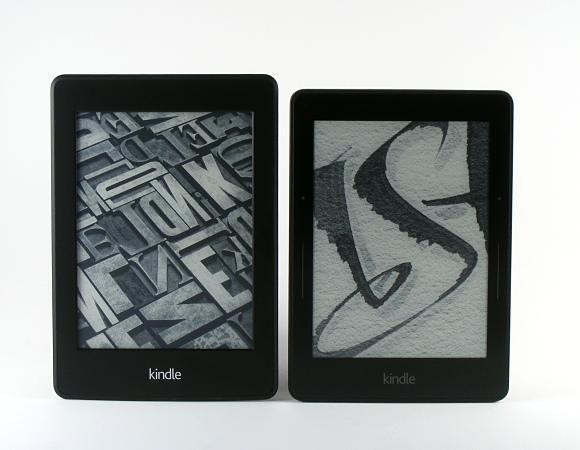 Kindle Paperwhite, links Kindle Voyage