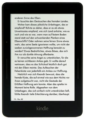 Kindle Voyage mit eBook Leseansicht