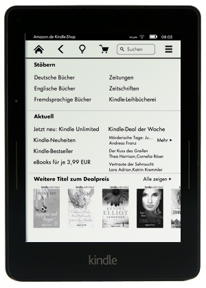 Kindle Shop auf dem Kindle Voyage