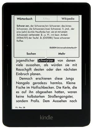 Kindle Voyage Wörterbuch