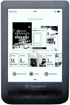Pocket Book Touch Lux 2 Startbildschirm