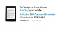 Kindle Paperwhite als Osterangebot inklusive 20 Euro Gutschein