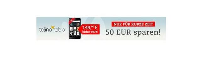 Tolino Tab 8 mit 50 Euro Rabatt für 149 Euro (Angebot)