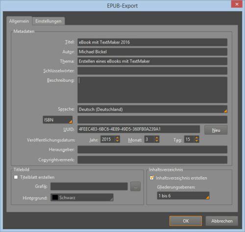 Softmaker Office 2016: TextMaker mit epub Export