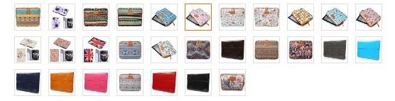 Schicke Design Taschen für Tolino und Kindle Reader mit guter Polsterung
