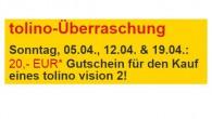 Tolino Vision 2 für 109 Euro mit 20 Euro Gutschein