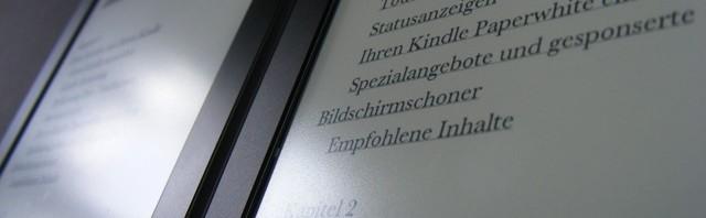 Kindle Paperwhite 2 und 3 – Display Vergleich