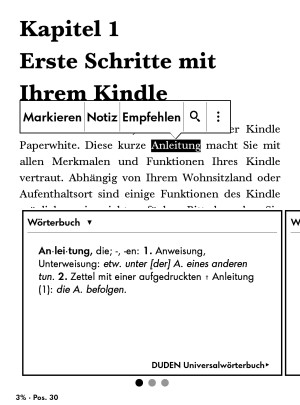 Kindle Paperwhite 3 - Software Änderungen