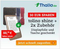 Bundle Angebot: Tolino shine plus Gratis Tasche und Display - Schutzfolie