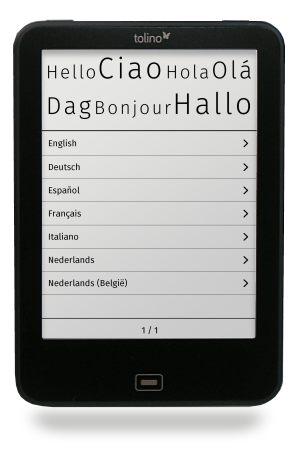 tolino einrichten: Sprache auswählen