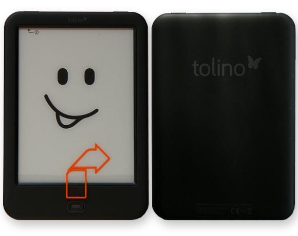 tolino shine 2 HD Vorderseite / Rückseite