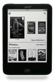 tolino Startbildschirm mit eBook Shop Thalia