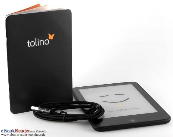 tolino vision 3 HD ausgepackt mit Zubehör