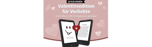 Tolino shine 2HD im Doppelpack für Verliebte