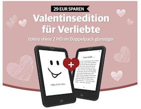 Tolino shine 2HD für Verliebte im Spar Doppelpack