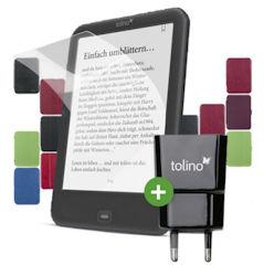 Tolino Zubehör Paket mit Tasche, Folie und Ladegerät mit 25% Rabatt