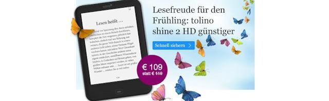 Angebot tolino shine 2 HD für 109 Euro