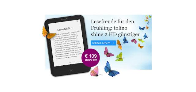 Angebot: tolino shine 2 HD für 109 Euro