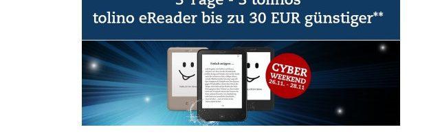 Thalia Cyber Weekend : tolino Reader – bis zu 30 Euro sparen