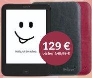 Thalia: tolino shine 2 HD inkl. einer Gratis Slim-Tasche wahlweise in schwarz oder rot für 129 Euro