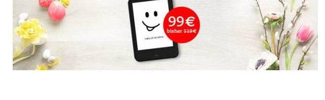 Tolino Oster Angebot Tolino shine 2 HD für 99 Euro