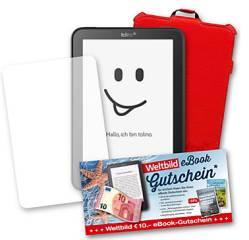 Tolino Vision 4 HD Sommer Bundle mit Tasche, Gutschein und Schutzfolie
