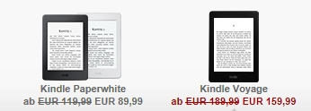 30 Euro sparen: Kindle Reader Sommer Angebot