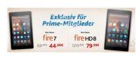 Amazon: Fire Tablet PCs für Prime Kunden bis zu 20 Euro günstiger