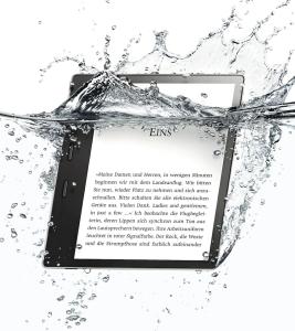 Kindle Oasis 2017 mit Audible Support und Wasserschutz nach IPX8