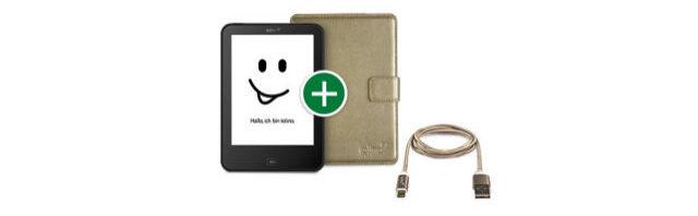 Starkes tolino 4 HD Bundle Angebot mit schöner Tasche und Kabel