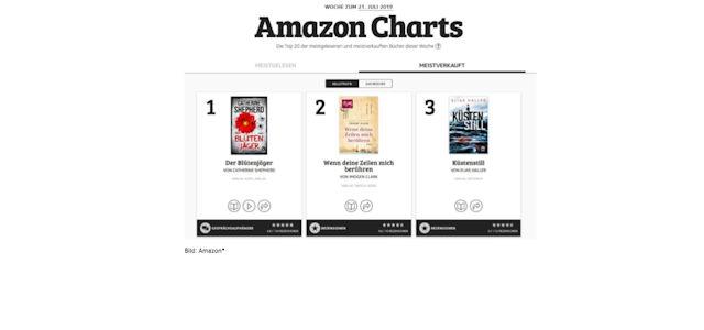 Neu: Amazon Charts, was Leute wirklich lesen