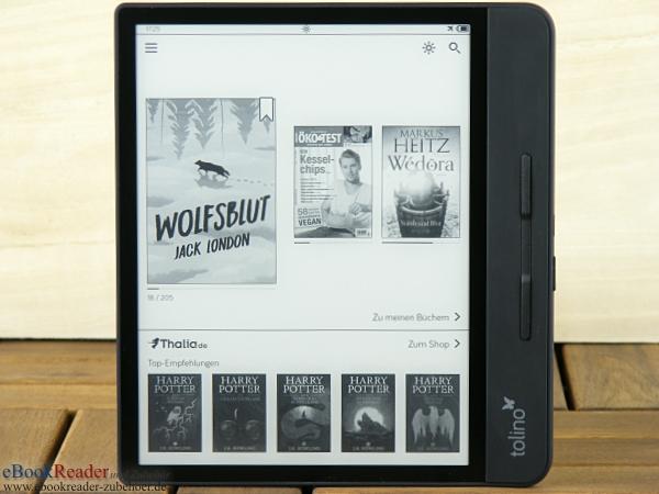 tolino epos 2 Startseite mit Thalia eBook Shop